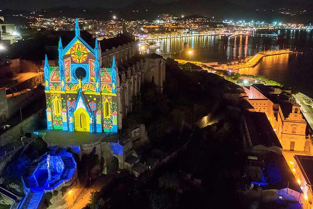 chiesa di san francesco videomapping guest gaeta 1